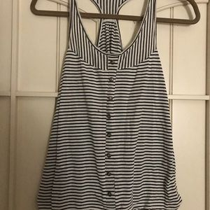Maurice's Black and White Striped Tanktop